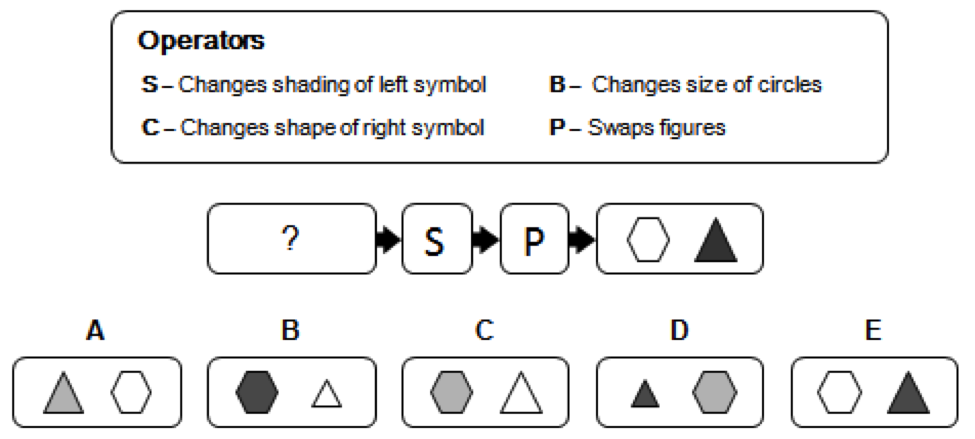Diagrammatic Reasoning test example